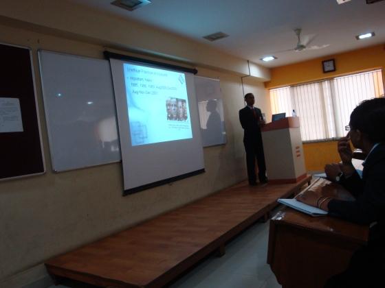 Presentation training in progress