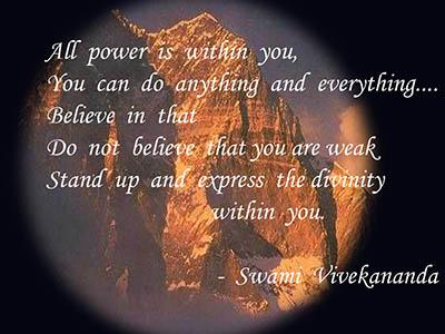 Swami  Vivekananda's Divine Message