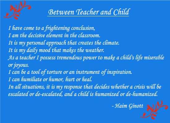 A teacher's sacred responsibility! | Breath of Joy