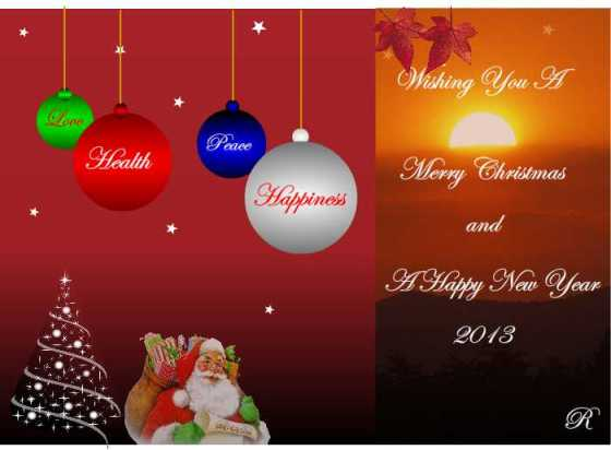 Christmas & New Year card 2013