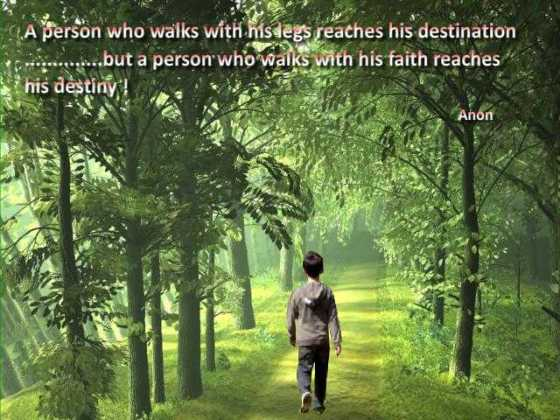 A person who walks......