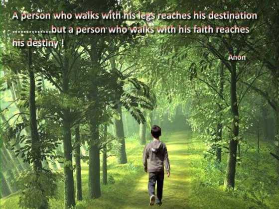 A person who walks......