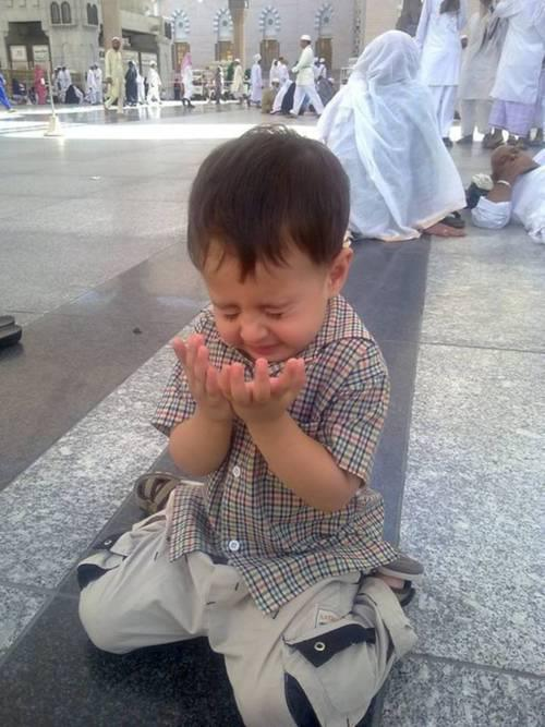 Boy praying!
