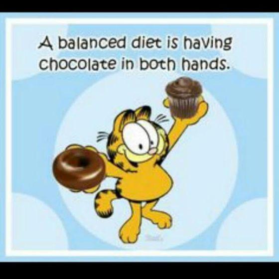 Balance with chocolate